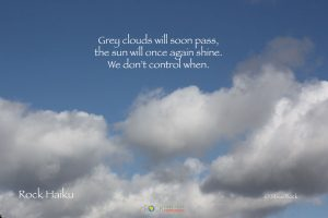 Grey clouds Haiku